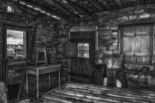 Inside Of Tiny Stone House Stone House Stone Cabin Stone
