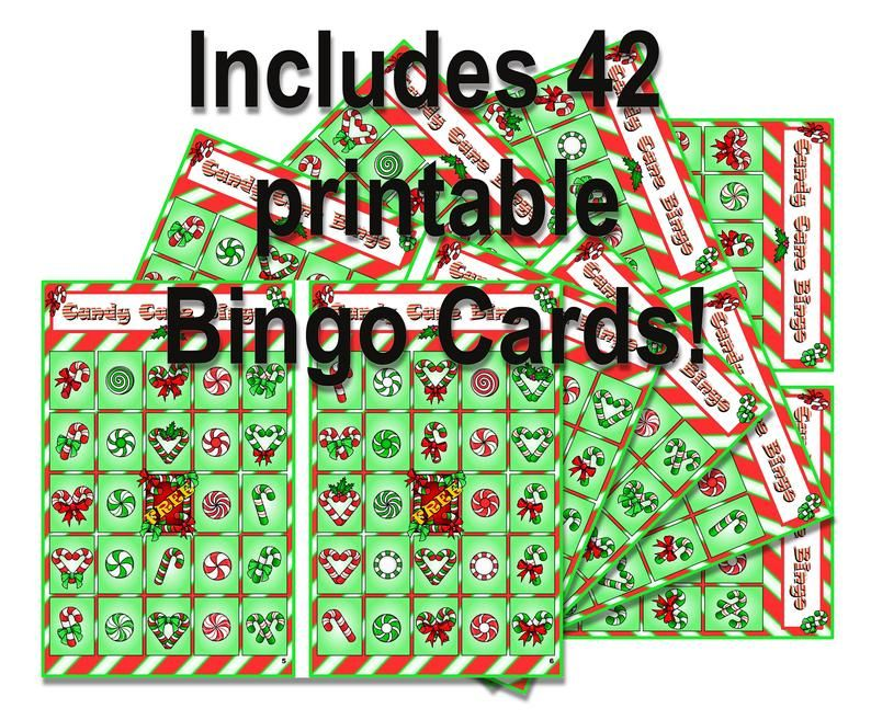 INSTANT DOWNLOAD Christmas Bingo Cards table craft