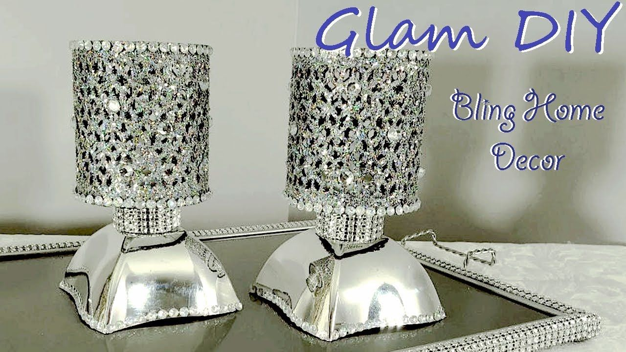 26846e8d125 Dollar Tree DIY Glam Bling Faux Mirror Tealight Holders Bling Home Decor -  YouTube