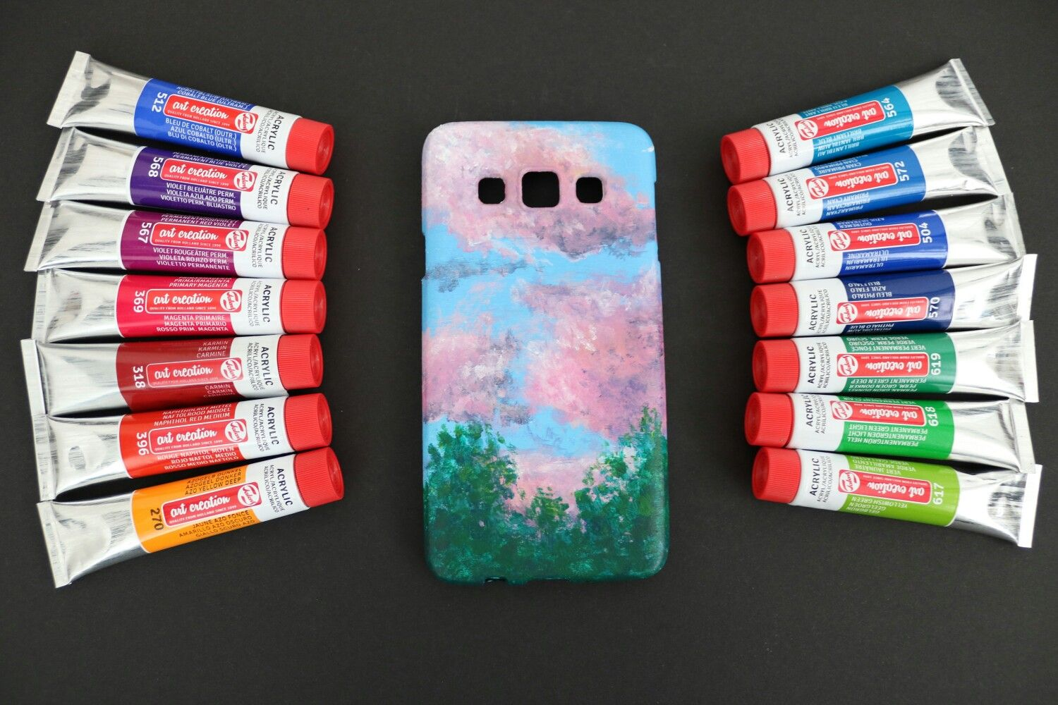 Acrylic phone case with images phone case diy paint