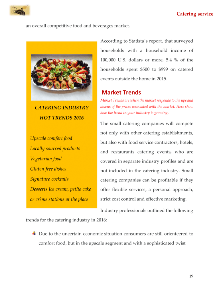 Catering Business Plan Template Sample Pages Catering Business Catering Business Plans Catering