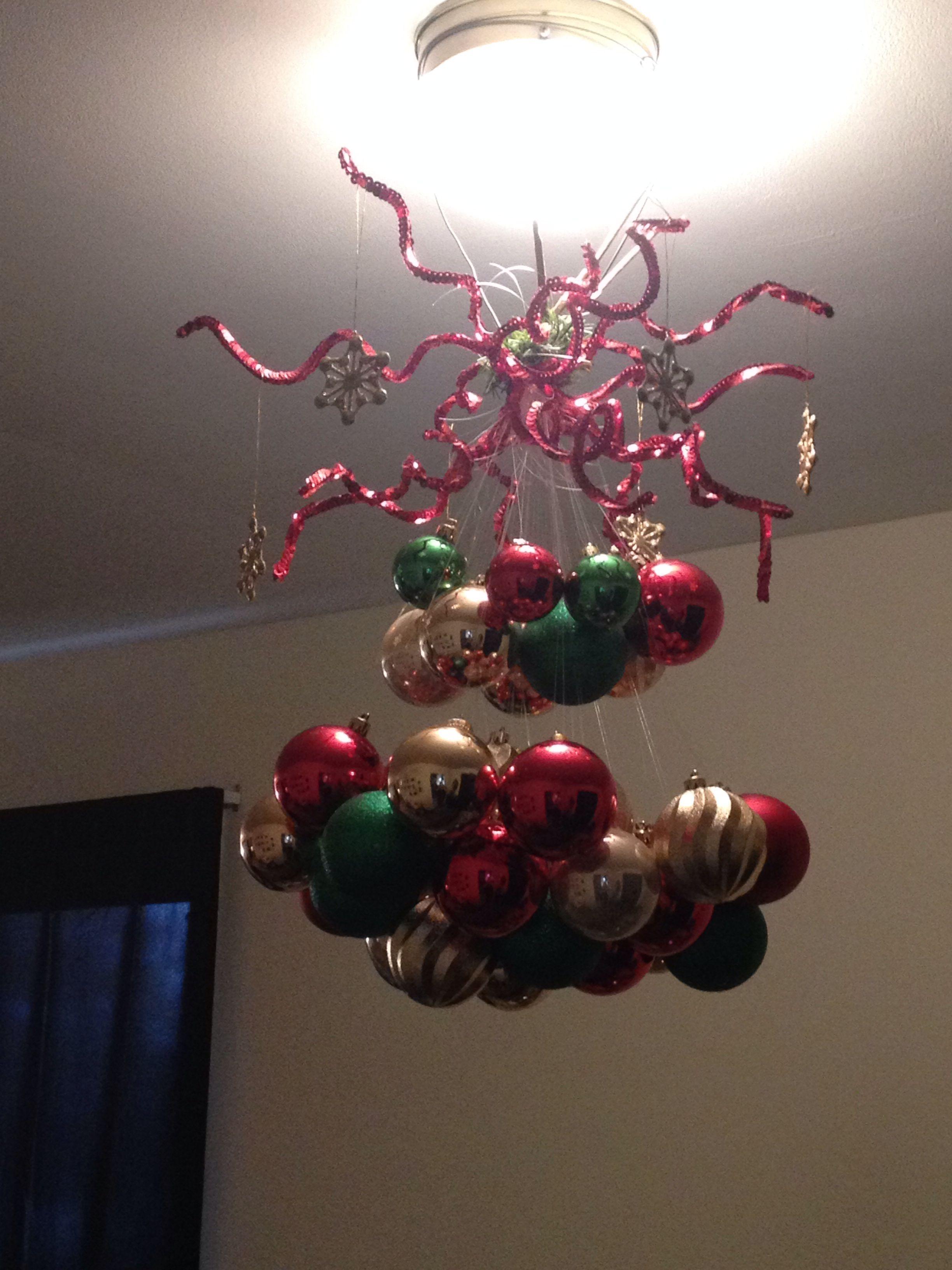 Christmas ball chandelier all things christmas pinterest christmas ball chandelier aloadofball Images