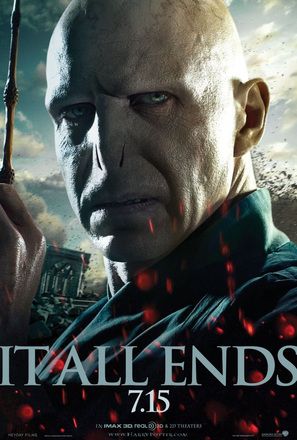 Harry Potter And The Deathly Hallows Part 2 It All Ends Here Voldemort Poster Design By Works Adv Harry Potter Poster Voldemort Deathly Hallows Part 2