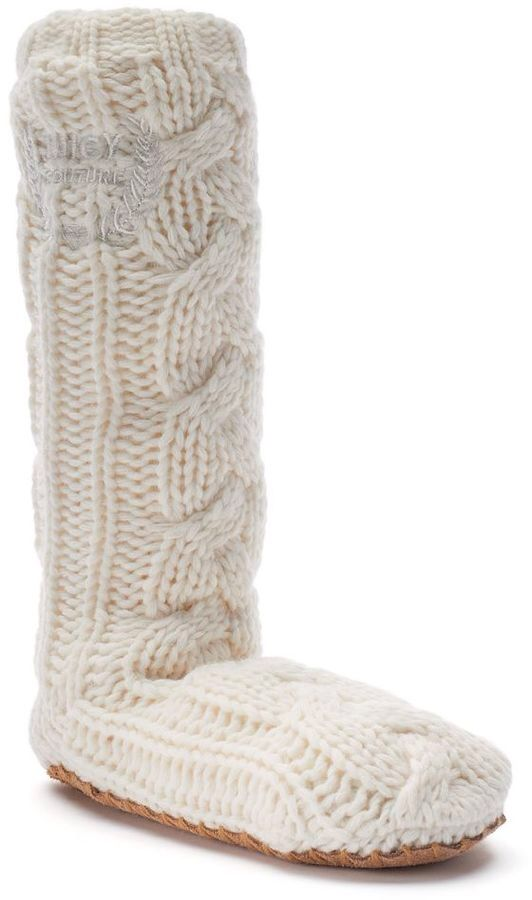 Juicy Couture Cable-Knit Knee-High Women s Slippers  093f65f73