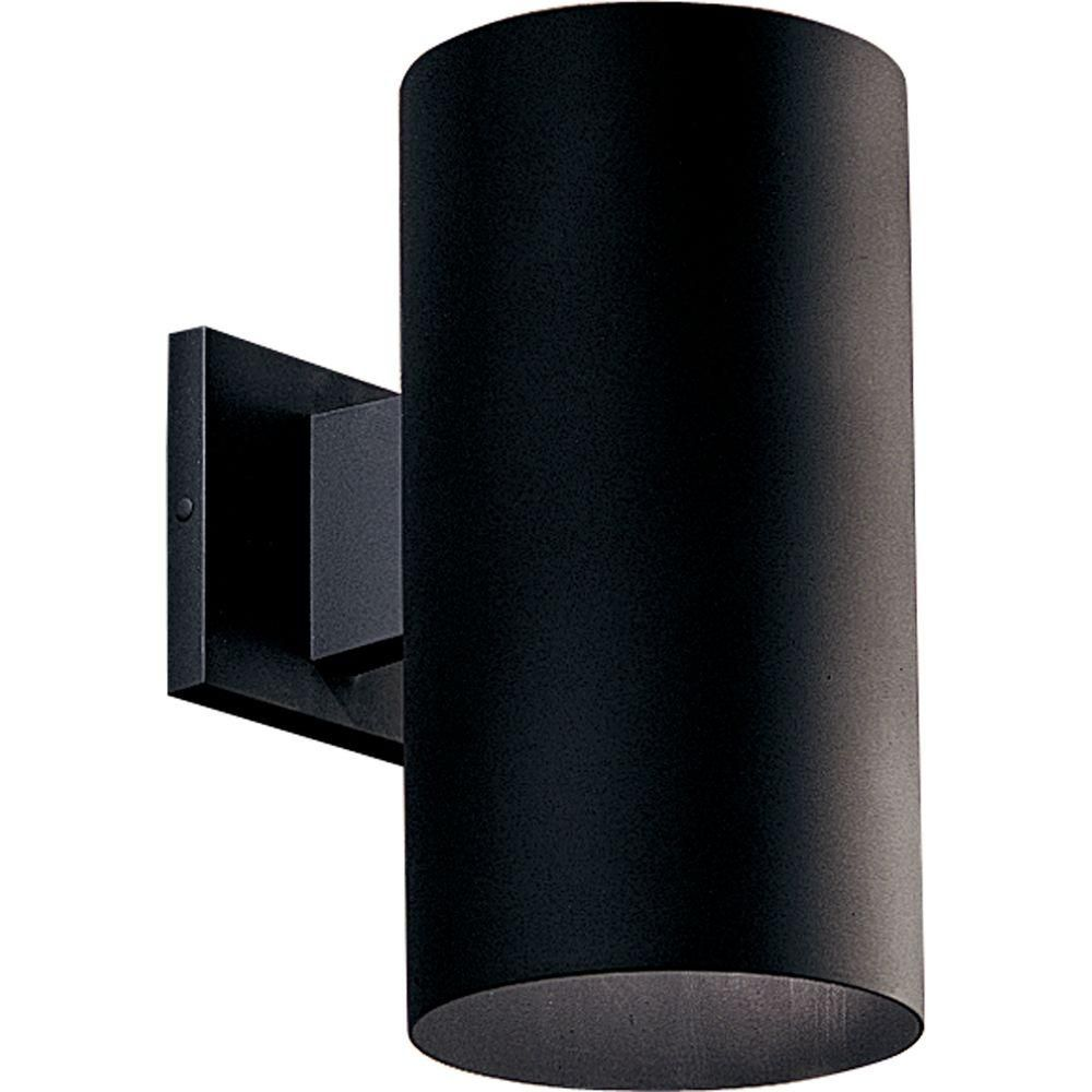 Progress Lighting 1 Black Light Wall Lantern P5641 31 At The Home Depot Led Outdoor Wall Lights Outdoor Sconces Outdoor Wall Sconce