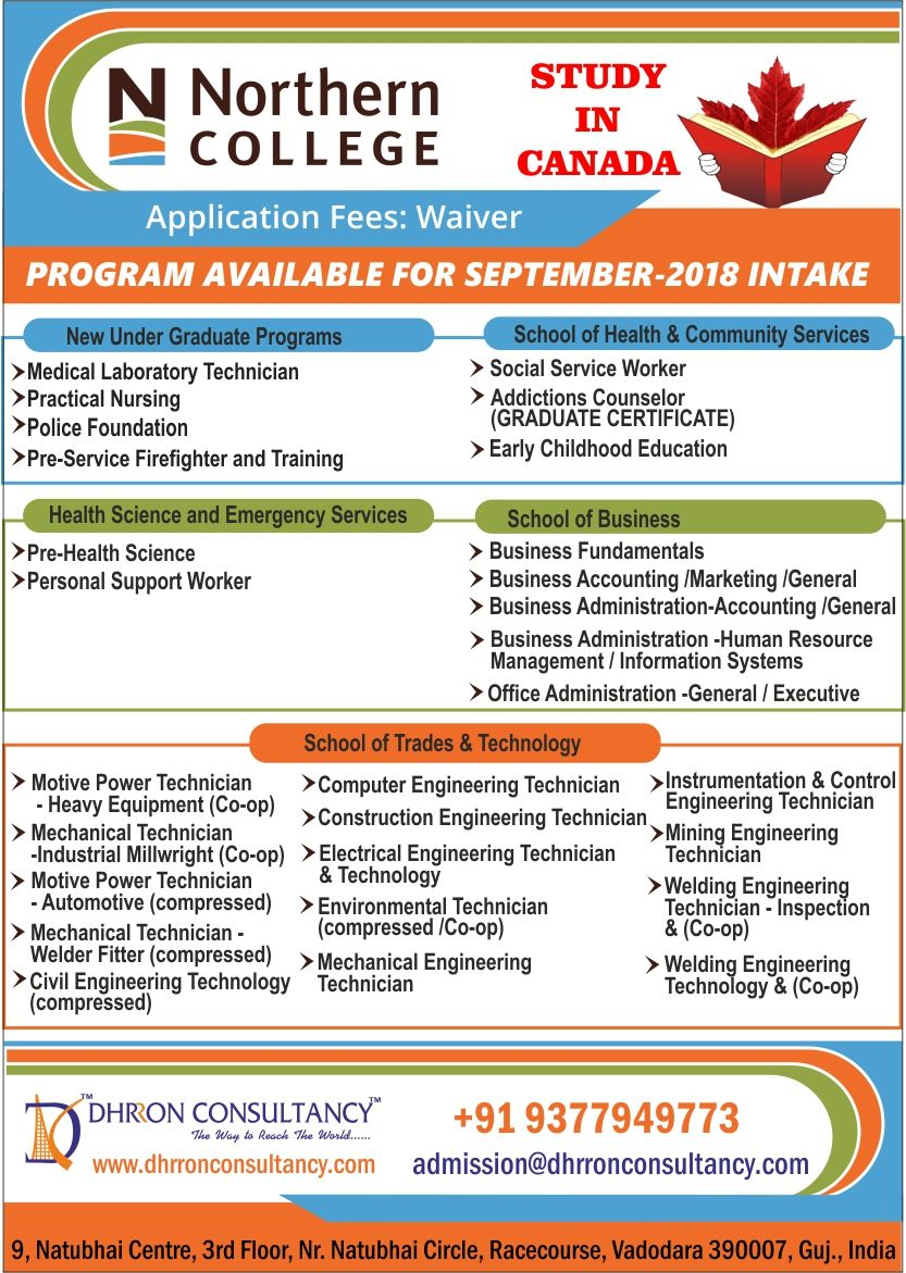 Do You Want To Study In Canada Apply In Northern College Of Applied Arts And Technolo Medical Laboratory Technician Practical Nursing Social Services Worker