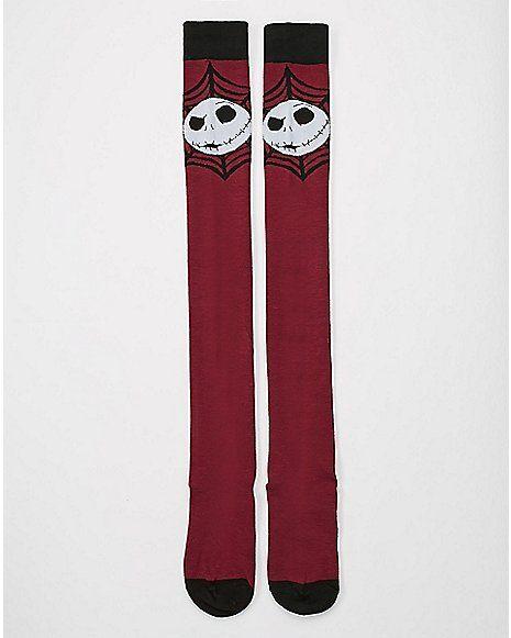 Nightmare Before Christmas Knee High Socks - Spencer's   Nightmare ...