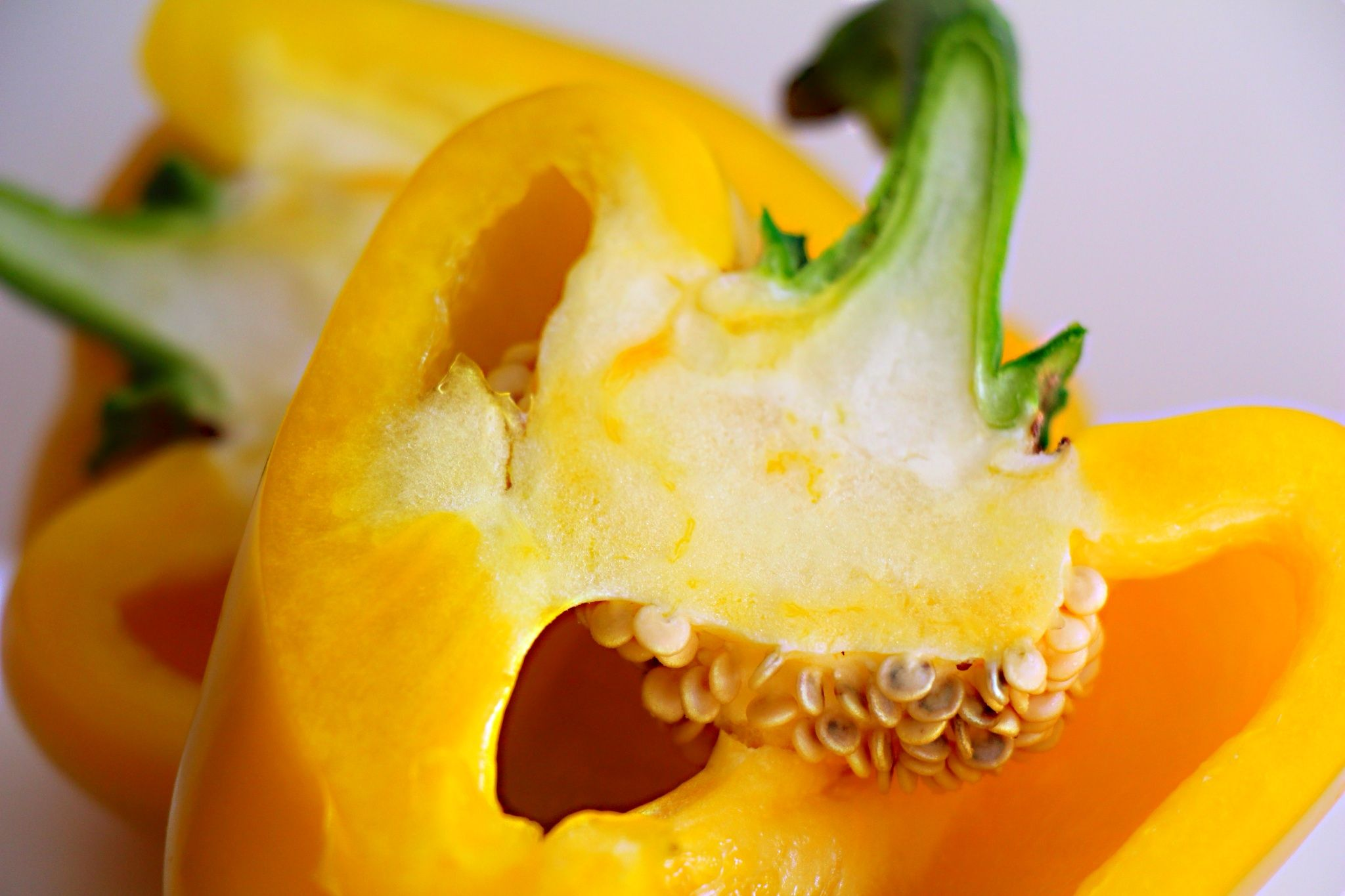 yellow bell pepper for Ginger Chicken Soup with Baby Bok Choy