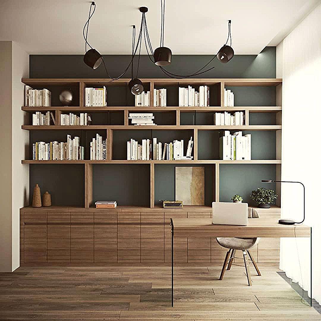Bibliotheques Murales In 2020 Kleine Heimburos Innen Buro Bucherregal Design