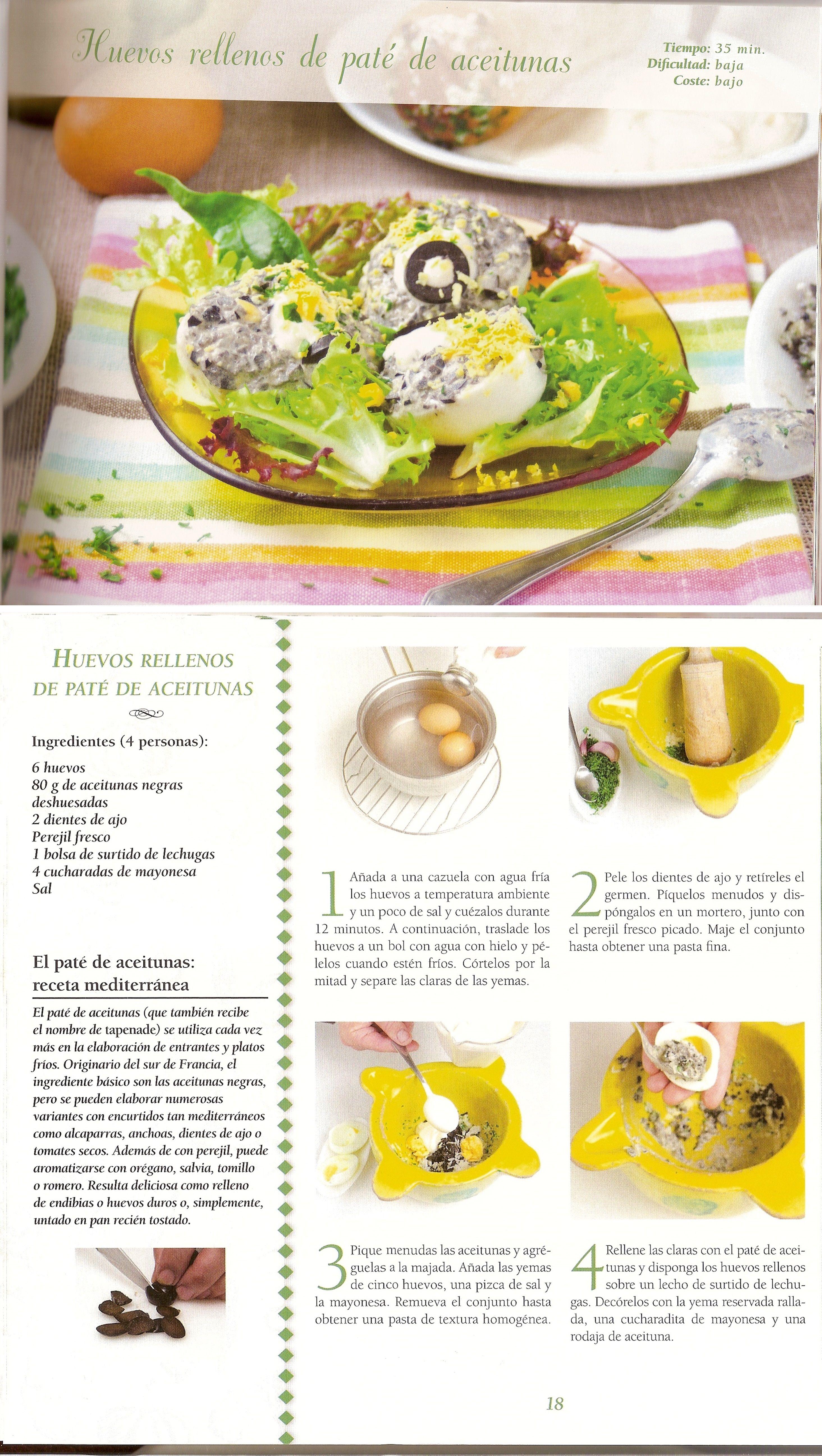 Huevos rellenos de paté de aceitunas   La cocina de la abuela ...