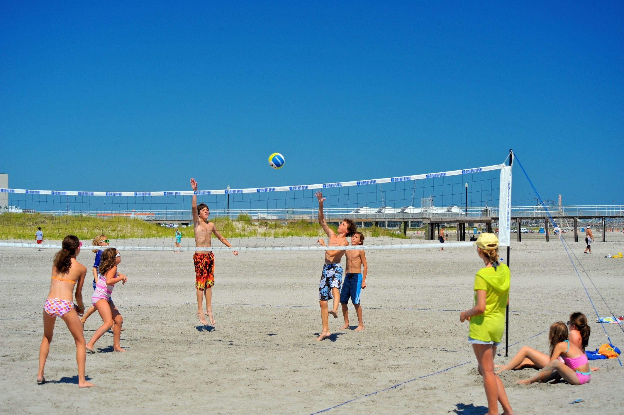 Beach Volleyball Is Always Fun In Summer Cape May Point Ocean City Jersey