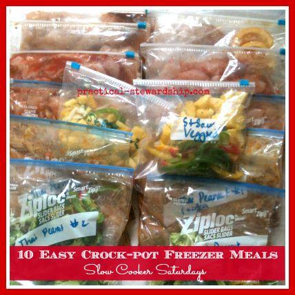 10 Crock-pot Freezer Meals for $5.64 a Meal - Practical Stewardship #crockpotmeals