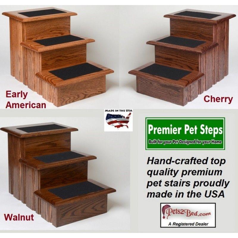 Best Oak Wood Non Slip Pet Stairs 130 95 Premier Pet Steps 400 x 300