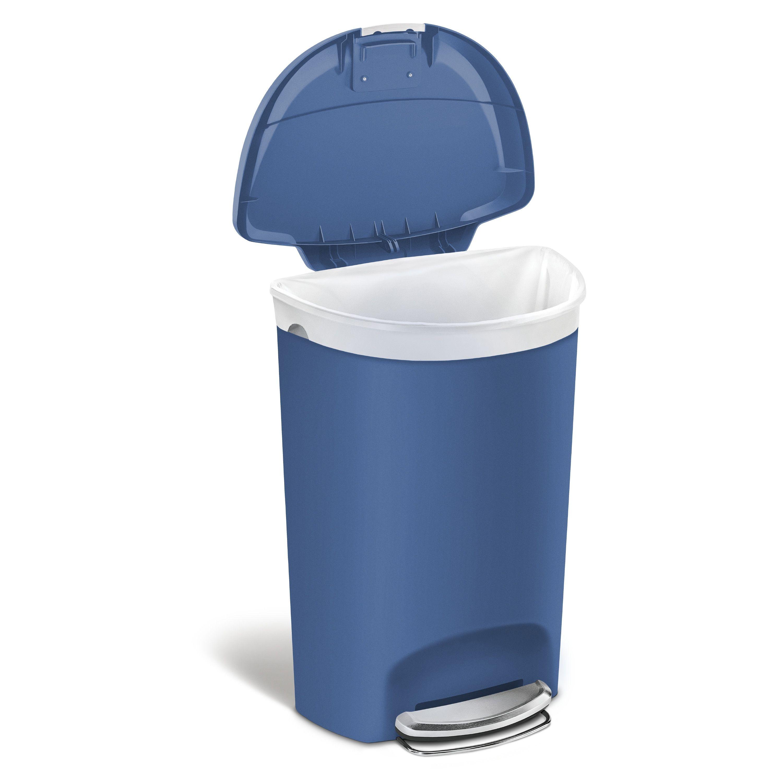 Plastic 13 Gallon Step On Trash Can Kitchen Trash Cans Trash