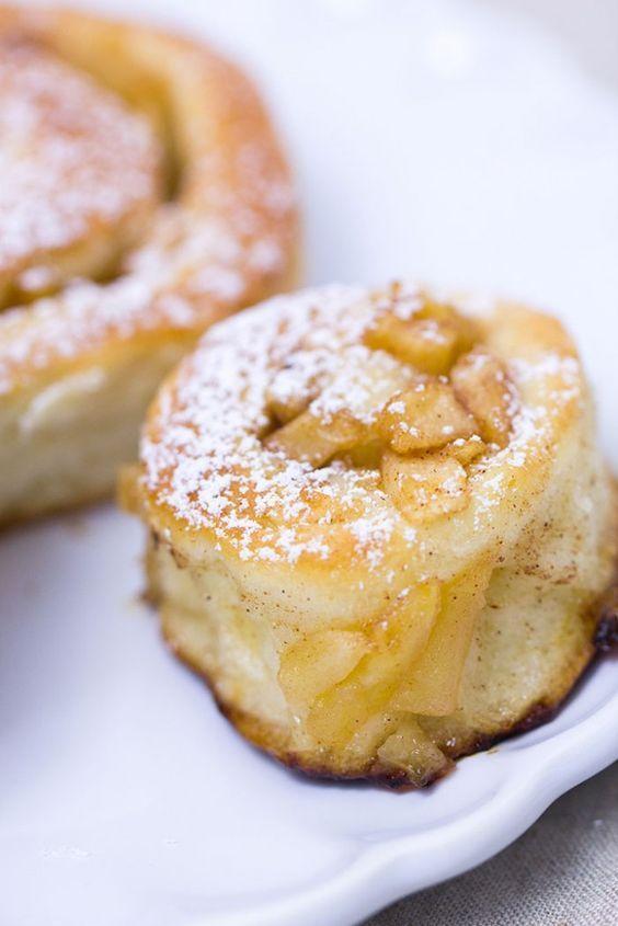 Apfel-Zimtschnecken - Rezept #rollcake