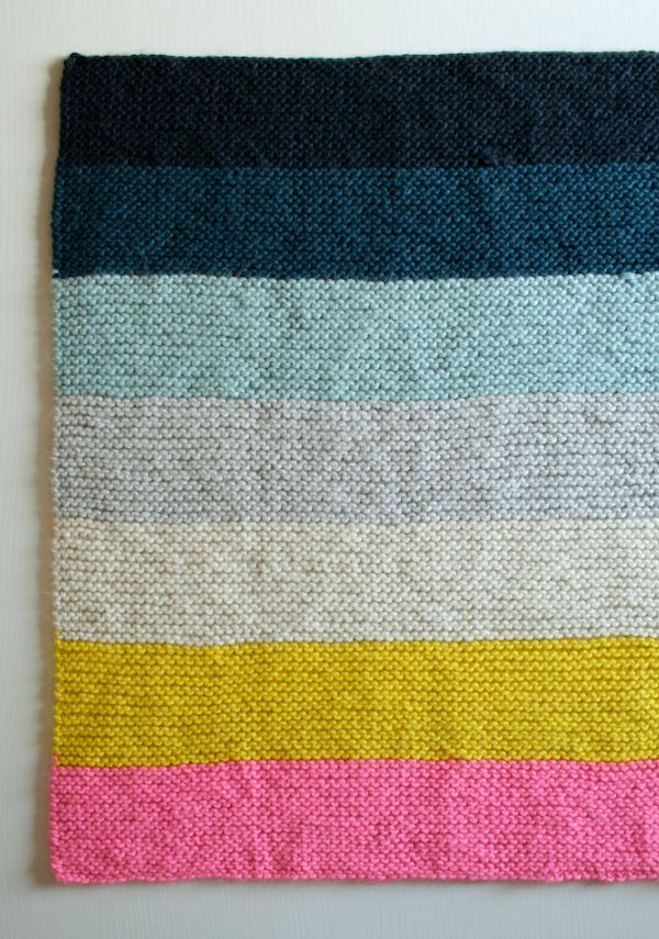 Super Easy Crib Blanket The Purl Bee Pattern Knit And Crochet