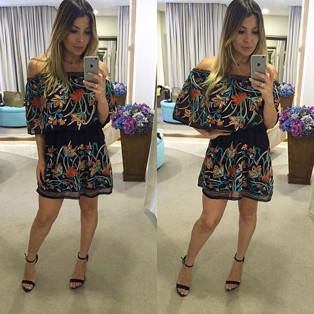 Apaixonada por este vestido @deara_brand ❤️ Atendimento até as 20:00 👈🏻 Compre Online (51)99656/6919 📲 #lookdodia #loved...