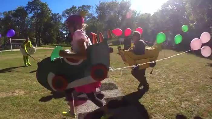 Backyard Mario Kart Battle in 2019   carnival   Mario kart
