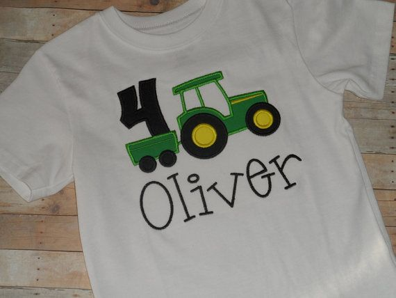 Baby Toddler Boys Custom Tractor Birthday By Kutiepiebowsandmore 2nd Ideas