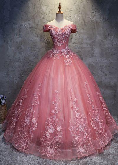 ball dress pink