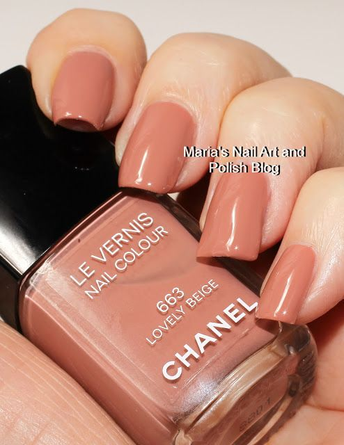 Chanel Lovely Beige 663 In 2019 Chanel Nail Polish Chanel Nails Joy Nails