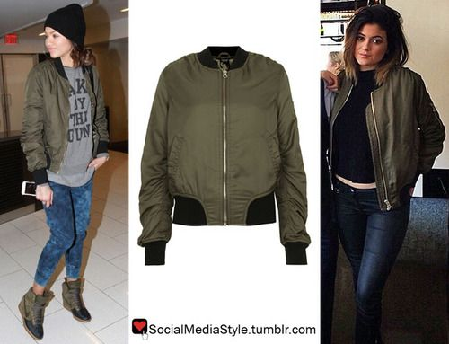 Buy Zendaya and Kylie Jenner's Green Bomber Jacket, here! | Who ...