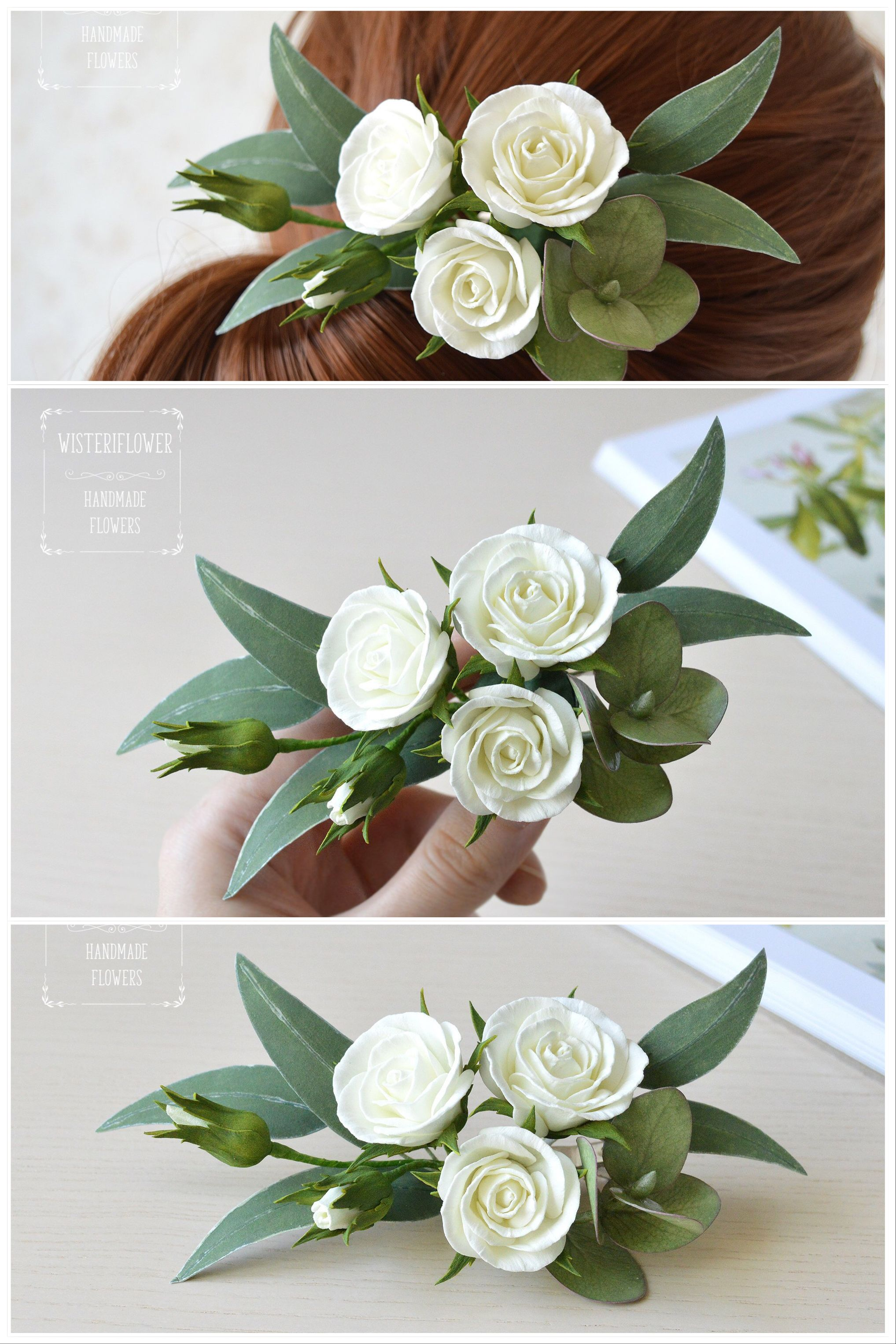 Eucalyptus Wedding Hair Clip Garden Wedding Modern Wedding Greenery Wedding