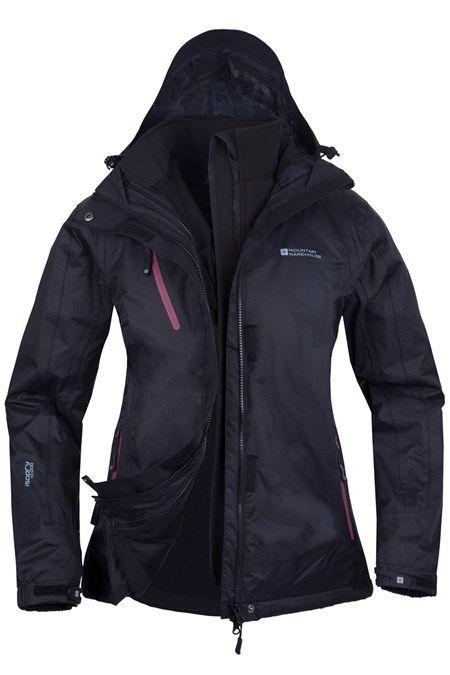 Bracken Extreme Womens 3 in 1 Waterproof Jacket