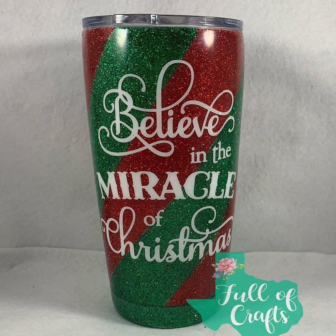 Christmas Glitter Cup Gift For Christmas Gift For Christmas Lover Glitter Christmas Mug Believe In The Magic Of Christmas Tumbler Christmas Tumblers Glitter Cups Tumbler Cups Diy