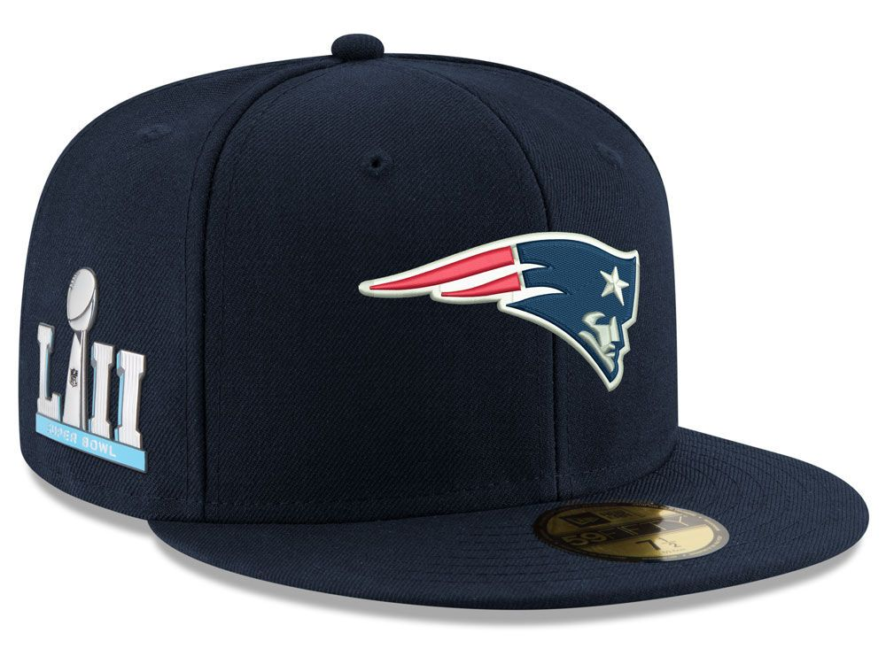 Gear Up For Sunday Snag This Lids Exclusive New Era Super Bowl Lii Team Basic Patch 59fifty Cap Availa New England Patriots Gear New England Patriots New Era