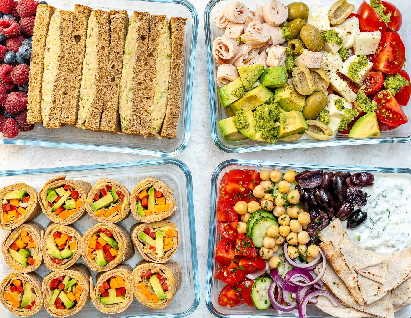 No Cook Clean Eating Lunch Boxes 4 Creative Ways Recipe Clean Eating Lunch Cooking Clean Eating Clean Food Crush