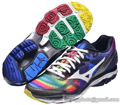 huge selection of c15bc c0736 Men s Mizuno Wave RIDER 17 Running Shoes Rainbow Color
