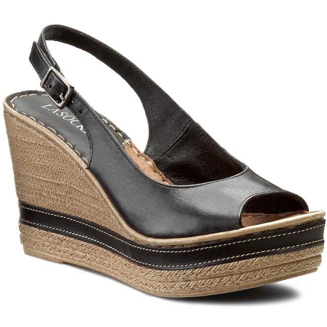 Sandaly Lasocki D050 Czarny Wedge Espadrille Shoes Espadrilles