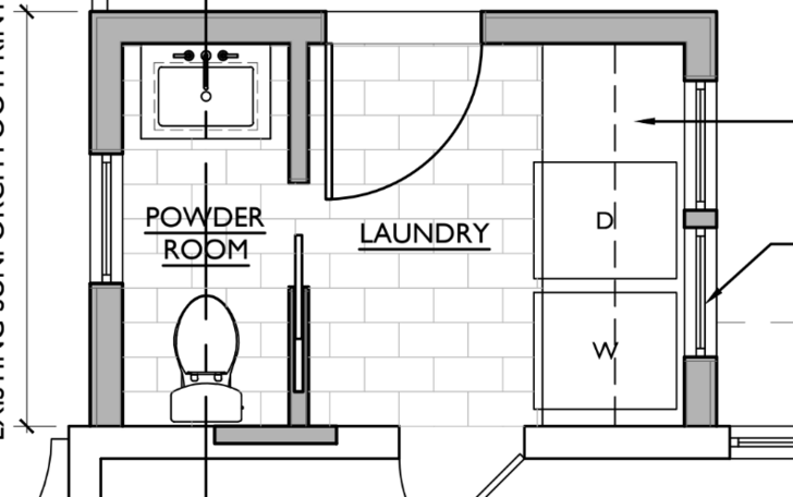 Floor Plan For Half Bath And Laundry Mud Room Laundry Room