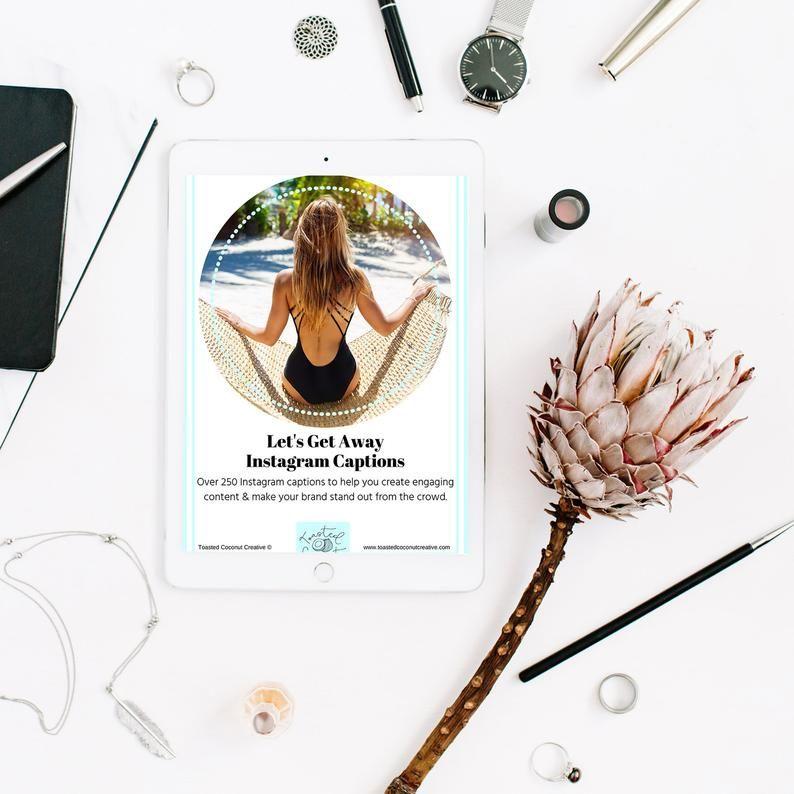 Let's Get Away - 250 Instagram Captions eBook in 2020 ...