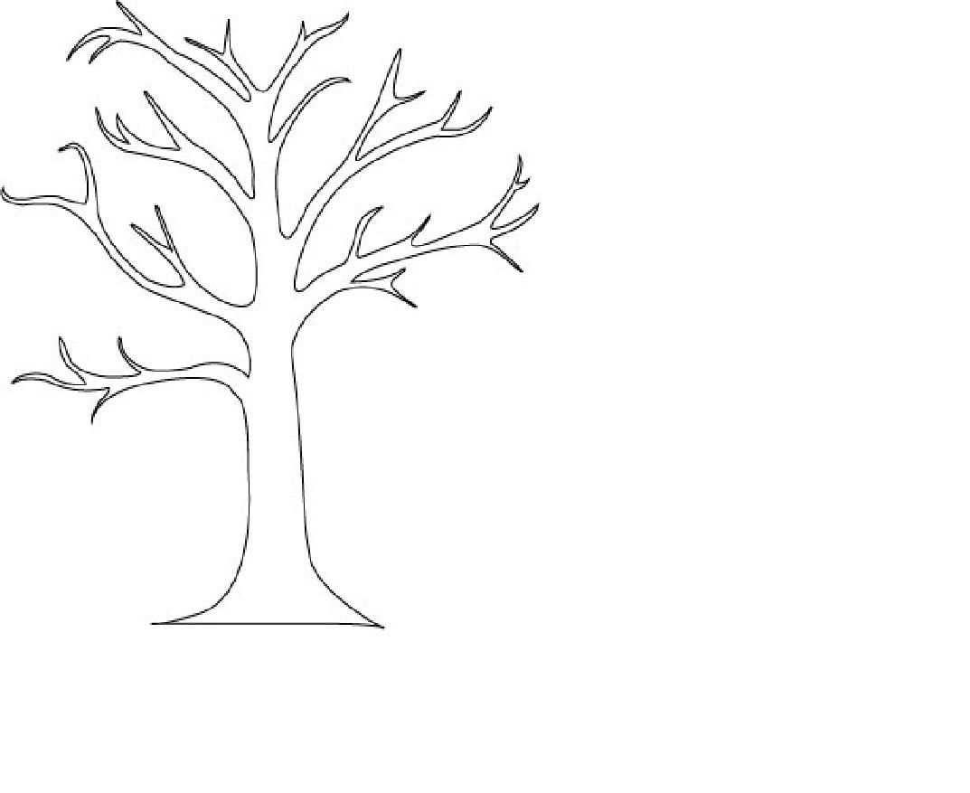 F Is For Tree Coloring Page
