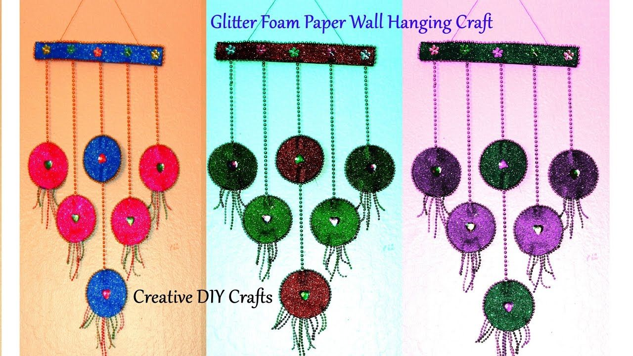 Diy Wall Hanging With Glitter Foam Sheets Room Decor Wall Hanging Diy Wall Hanging Diy Wall