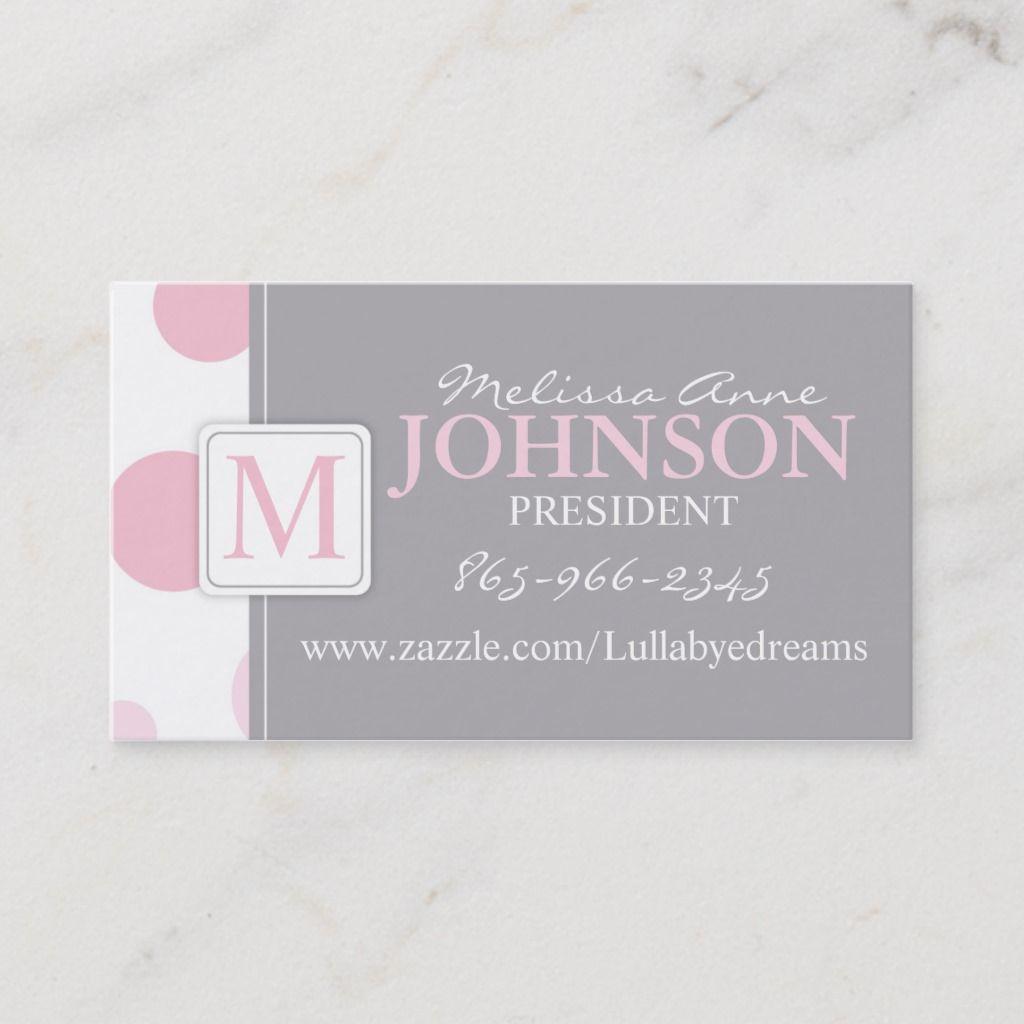Big Dots Business Card Pkgy Zazzle Com Business Card Design Business Cards Elegant Elegant Business Cards