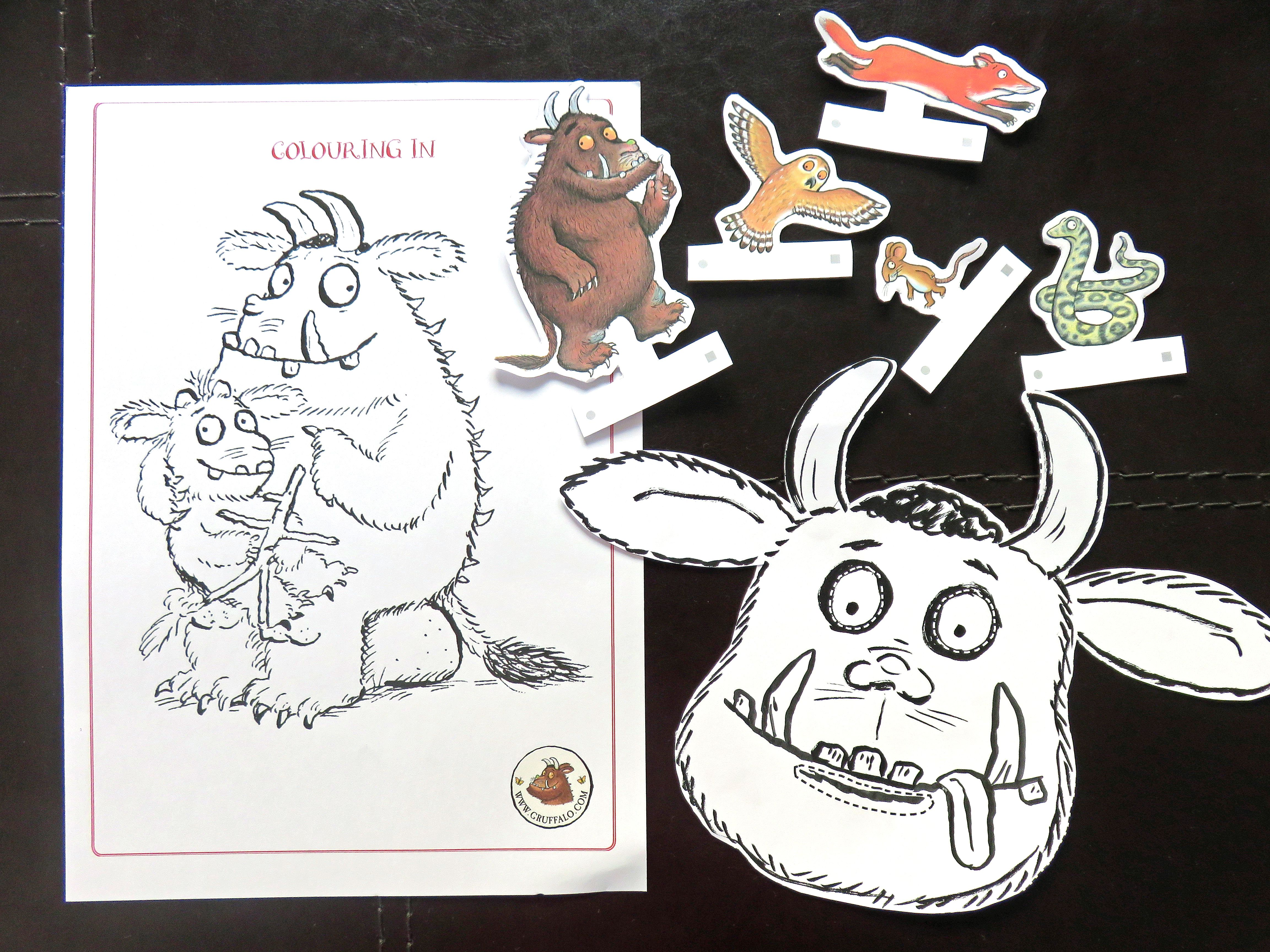 Coloring Pages Daily Activities : Free printable the gruffalo activities kids activities