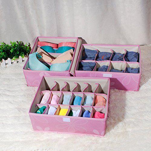 miu color bo te de rangement pliable avec couvercle pour sous v tements ceintures chaussettes. Black Bedroom Furniture Sets. Home Design Ideas