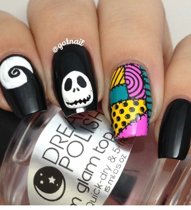 Nightmare before Christmas nails - Nightmare Before Christmas Nails Nails In 2018 Nails, Halloween
