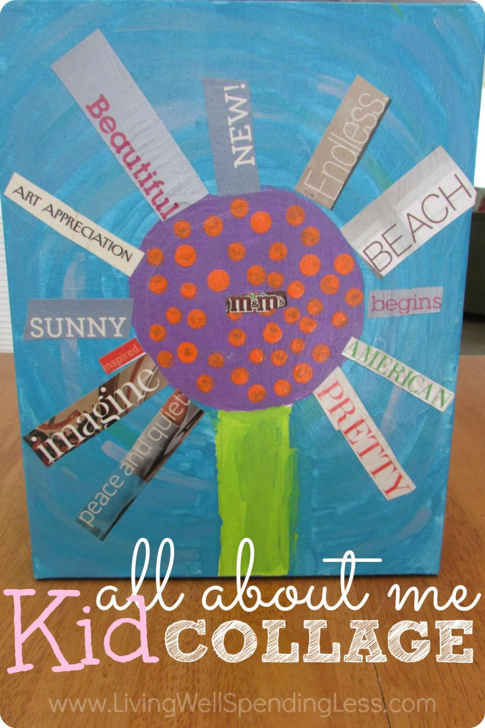 All About Me Kid Collage Craft Project   Kids collage, Art ...