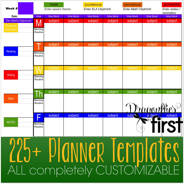 Teacher Planner  The Ultimate Weekly And Yearly Digital Planners