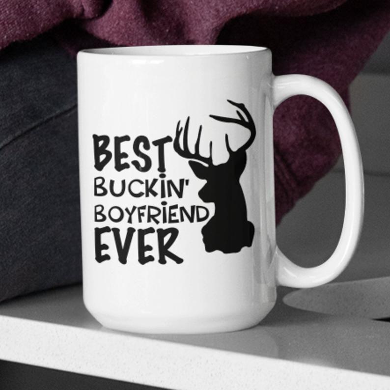 Best buckin boyfriend mug for men gifts for boyfriend deer