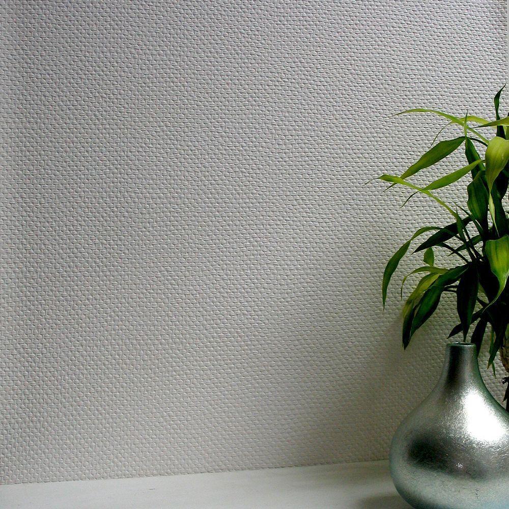 Bon H Weave Paintable Anaglypta Pro Wallpaper Sample,