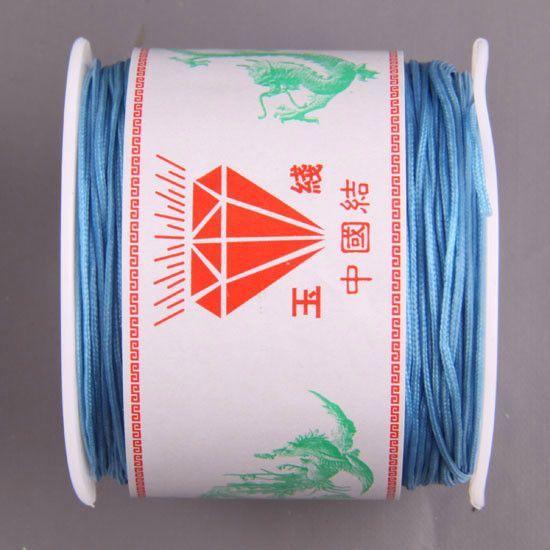 Free Shipping 1MM Nylon Blue Pink Black White Purple Red Brown Green Gold Beading Cord 100M 1Pcs N031-N039