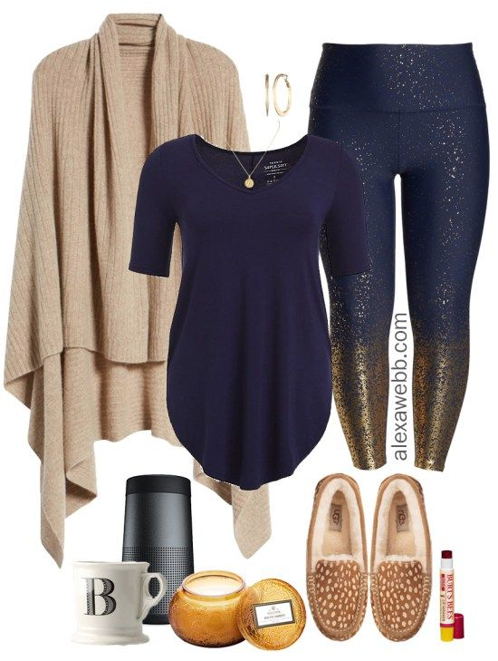 Plus Size Work-From-Home Outfit - Plus Size Casual Outfit Idea - Plus Size Glitter…
