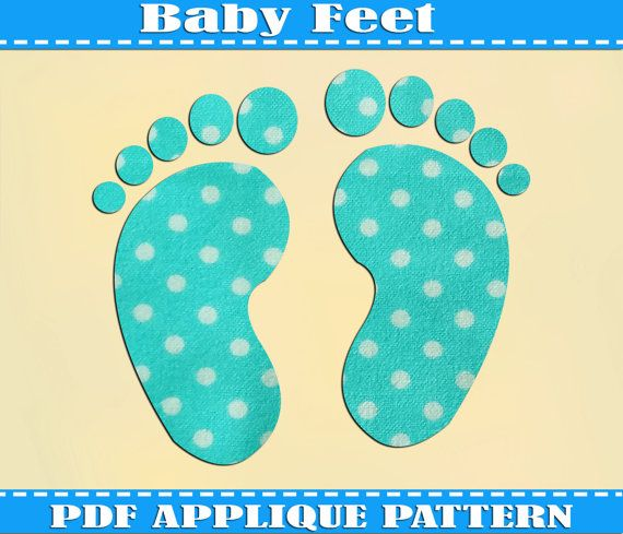 Baby Feet Applique Pattern Template Pdf Download Instant