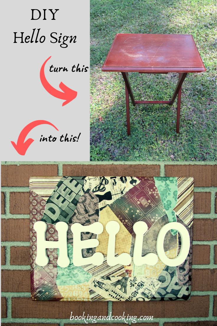 Diy Hello Sign Tween Crafts Diy Wall Art Diy Projects