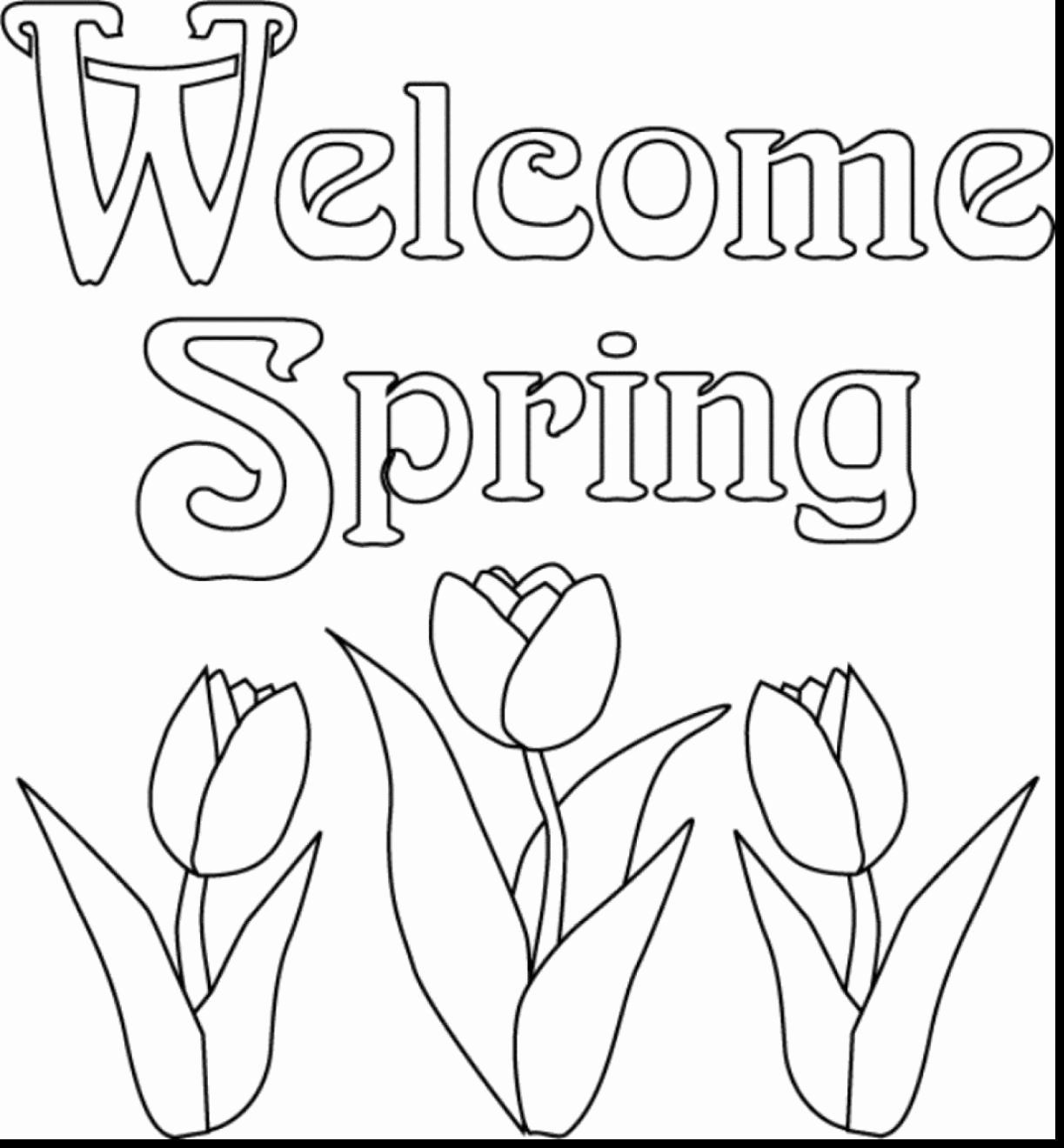 Spring Break Coloring Pages Beautiful Spring Break Coloring Pages At Getcolorings In 2020 Spring Coloring Sheets Spring Coloring Pages Coloring Pages